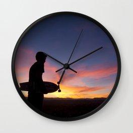 Longboard Silhouette Wall Clock