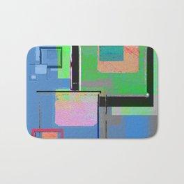 Superfly Muse No 2. Contemporary Mixed Media Abstraction Bath Mat