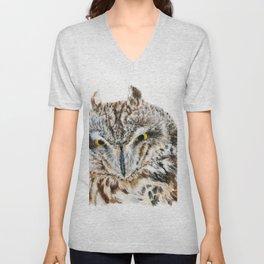 Short-Eared Owl by Teresa Thompson Unisex V-Neck