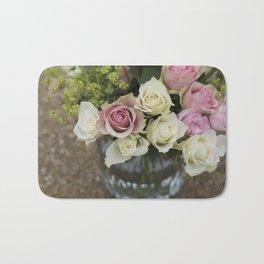 Rose Bouquet in a Vase Bath Mat
