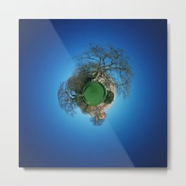 Tiny Planet 3 - City Limits Metal Print