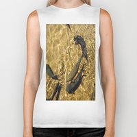 trout Biker Tanks featuring Trout by Impromptu;