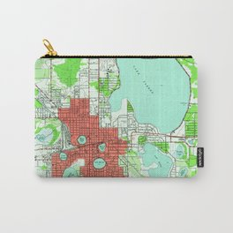 Vintage Map of Lakeland Florida (1944) Carry-All Pouch