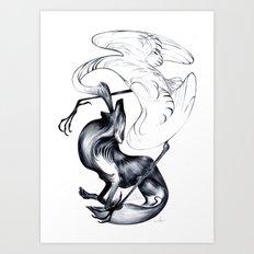 The Wolf & the Crane Art Print