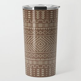 N112 - Traditional Boho Farmhouse African Moroccan Artwork. Travel Mug