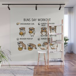 Buns Day Workout Wall Mural