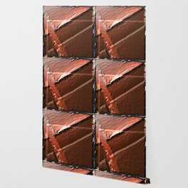 geometrical abstrac art copper colored metal texture Wallpaper