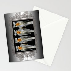 Snow Puff Abstract Stationery Cards