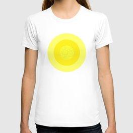 Yellow Ornament Cricle T-shirt
