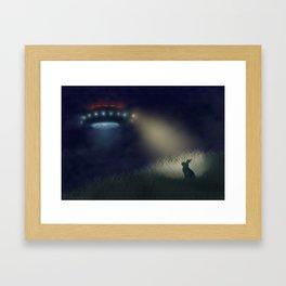 Caught in the Headlights Framed Art Print