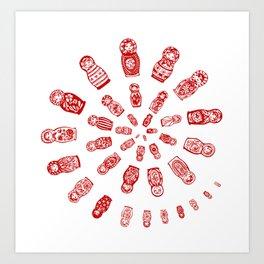 Matryoshkas'  Spiral Art Print