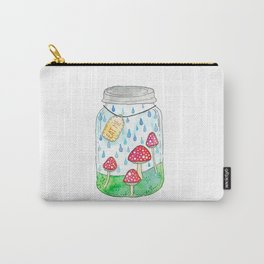 Mushrooms in Mason Jar Carry-All Pouch