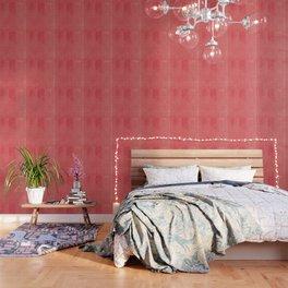 Modern black pink yellow watercolor chevron polka dots pattern Wallpaper