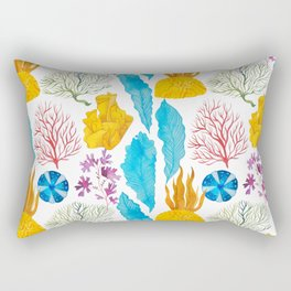 Coral Reef Plants Rectangular Pillow