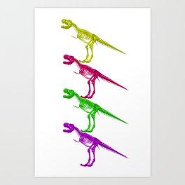 T-Rex Bones Art Print