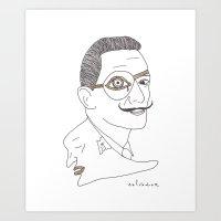 salvador dali Art Prints featuring Salvador Dali by Grace Ban