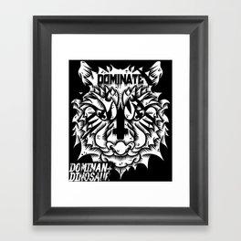 Satanic tiger Framed Art Print