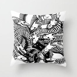 Lonely Hydra Throw Pillow