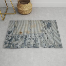 Warehouse District -- Rustic Industrial Farm Chic Abstract Rug