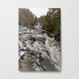 Killin Waterfall Metal Print