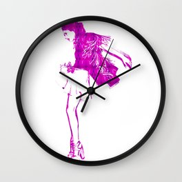 Fly: Coco Rocha Wall Clock