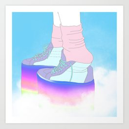 STEPPING WITH RAINBOW Art Print