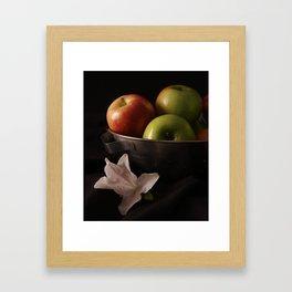 Colander Apples Framed Art Print