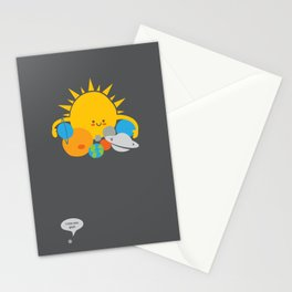 Hugs are for Planets Only Stationery Cards