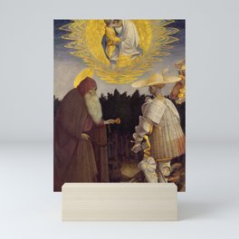 Pisanello - Vision of the Madonna by Saint Anthony and Saint George Mini Art Print