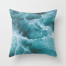 Electric Ocean Throw Pillow