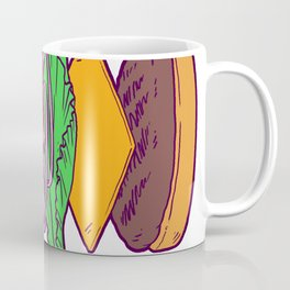 Vegan Burger Anatomy (No Words) Coffee Mug