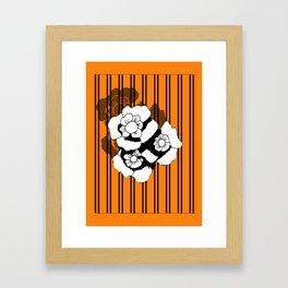 Flower and Stripes Framed Art Print