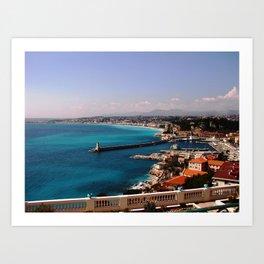 Port of Nice France Art Print