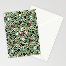 8-fold Rosettes with Flowers Stationery Cards