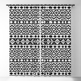 Aztec Essence IIIb Ptn White & Black Blackout Curtain