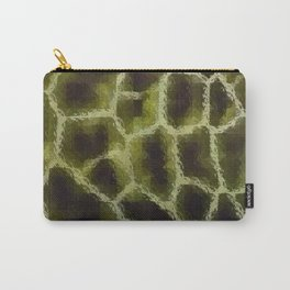 Olive Green Animal Print Carry-All Pouch