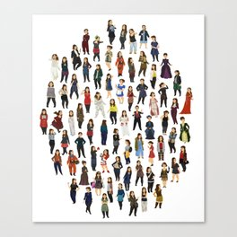 Every Clara Outfit Ever Canvas Print