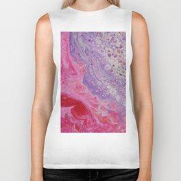 Fluid Nature - Colliding Pastels - Pink Lilac Abstract Art Biker Tank