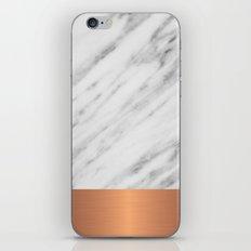 Carrara Italian Marble Holiday Rose Gold Edition iPhone & iPod Skin