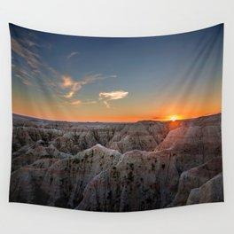 South Dakota Sunset - Dusk in the Badlands Wall Tapestry