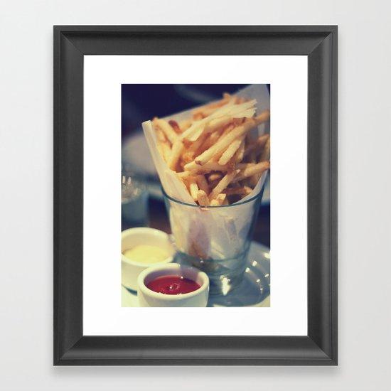 At the Diner Framed Art Print