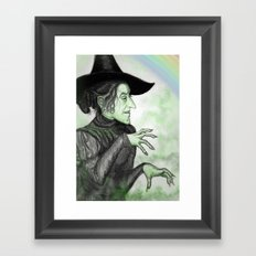 Wickedy Witch Framed Art Print