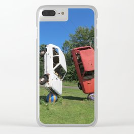 twist turned upside down Clear iPhone Case