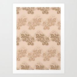 Brown Lace Art Print
