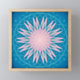 Floral mandala Framed Mini Art Print
