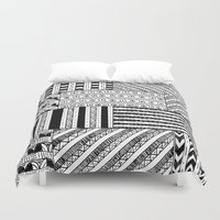 black white Duvet Covers featuring Black&White White&Black by Kaitlyn_Michelle_