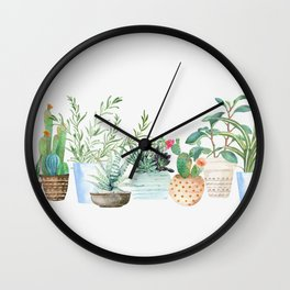 Plants Wall Clock