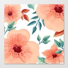 FLOWERS WATERCOLOR 2 Canvas Print