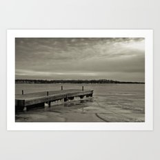 Frozen Dock Art Print