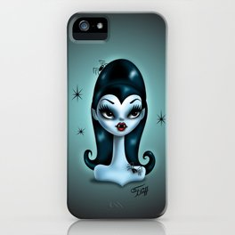 Vampire Doll with Spiders iPhone Case